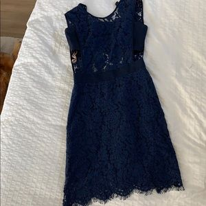Fame and Partners Navy Lace Dress